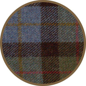 Twin Stave Wall Clock With Harris Tweed - Contempo
