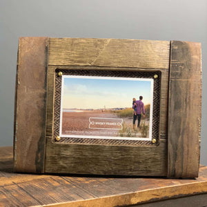 Upcycled Whisky Barrel Bilge Photo Frame - Contempo