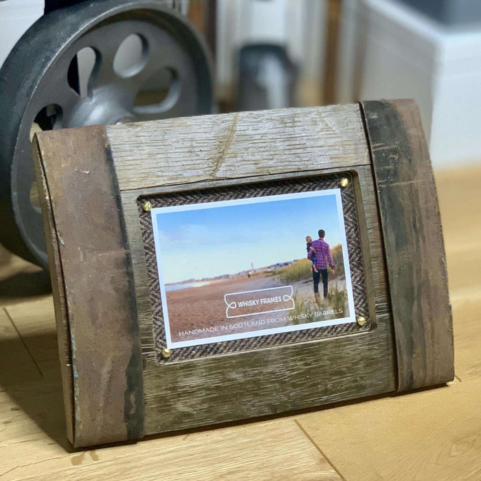 Upcycled Whisky Barrel Bilge Photo Frame