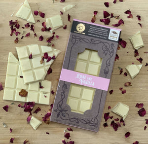 White Chocolate Rose & Vanilla 100g - Contempo