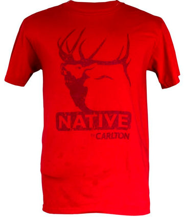 Native Elk Red Tee