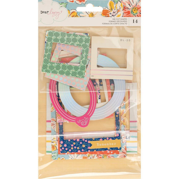 Scrapbooking  ***Arriving Shortly*** Dear Lizzy She's Magic Ephemera Die-Cuts 14/Pkg Chipboard Frames Chipboards