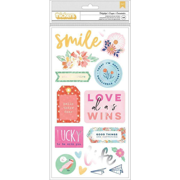 Scrapbooking  Dear Lizzy She's Magic Thickers Stickers 5.5