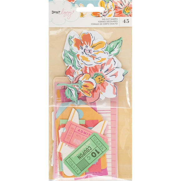 Scrapbooking  Dear Lizzy She's Magic Ephemera Die-Cuts 45/Pkg Ephemera
