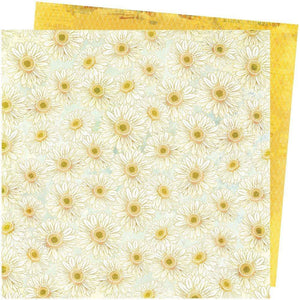 "Scrapbooking  Vicki Boutin Storyteller Double-Sided Cardstock 12""X12"" - Daisies Paper 12""x12"""