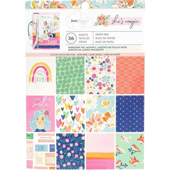 Scrapbooking  ***Arriving Shortly***Dear Lizzy She's Magic Single-Sided Paper Pad 6