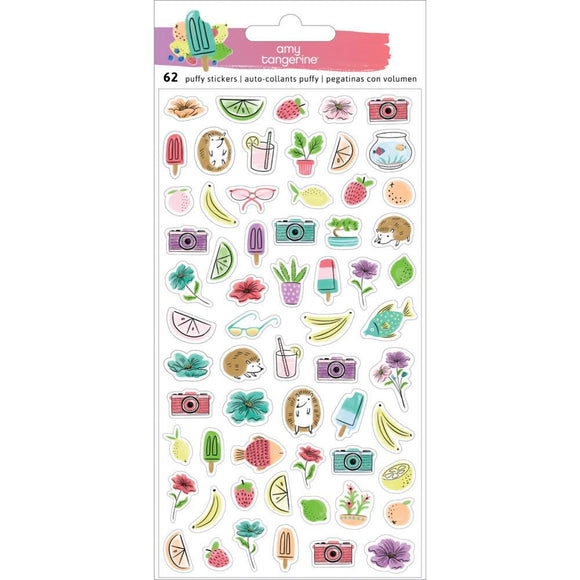Scrapbooking  Amy Tangerine Stay Sweet Mini Puffy Stickers Puffy Stickers