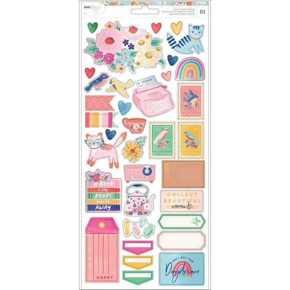 Scrapbooking  Dear Lizzy She's Magic Cardstock Stickers 6