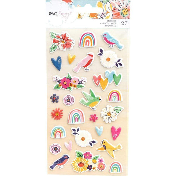 Scrapbooking  Dear Lizzy She's Magic Puffy Stickers 27/Pkg Stickers