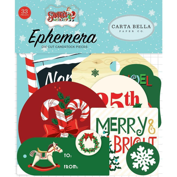 Scrapbooking  Santa's Workshop Ephemera Cardstock Die-Cuts 33/Pkg Icons Ephemera