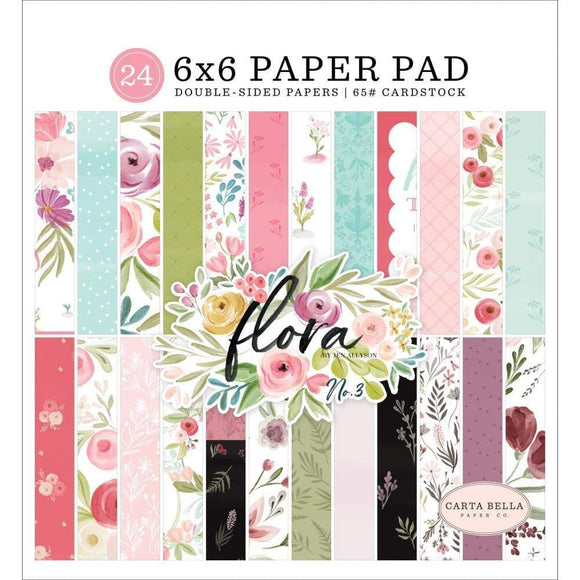 Scrapbooking  Carta Bella Flora No. 3, Double-Sided Paper Pad 6