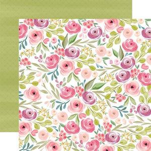 "Scrapbooking  Flora No. 3 Double-Sided Cardstock 12""X12"" - Bright Large Floral Paper 12x12"