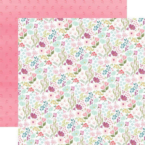 "Scrapbooking  Flora No. 3 Double-Sided Cardstock 12""X12"" - Bright Small Floral Paper 12x12"