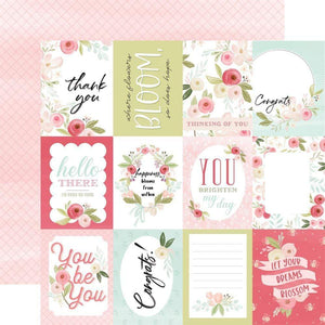"Scrapbooking  Flora No. 3 Double-Sided Cardstock 12""X12"" - Subtle 3""x4""Journalling Cards Paper 12x12"