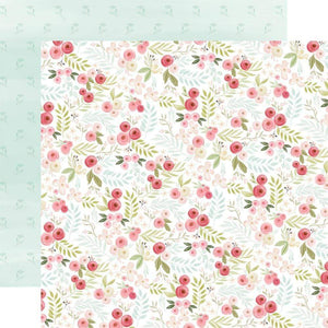 "Scrapbooking  Flora No. 3 Double-Sided Cardstock 12""X12"" - Subtle Small Floral Paper 12x12"