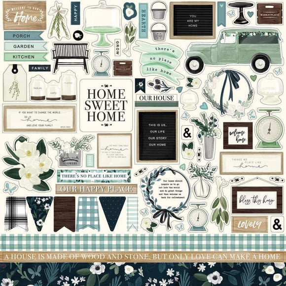 Scrapbooking  Home Again Cardstock Stickers 12