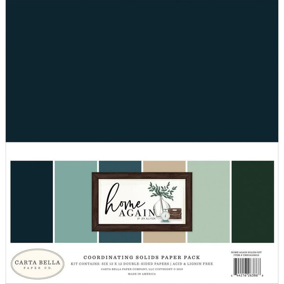 Scrapbooking  Home Again Double-Sided Solid Cardstock 12