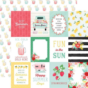 "Scrapbooking  Summer Market Double-Sided Cardstock 12""X12"" - 3x4 Journaling Cards Paper 12x12"