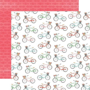 "Scrapbooking  Summer Market Double-Sided Cardstock 12""X12"" - Bikes Paper 12x12"