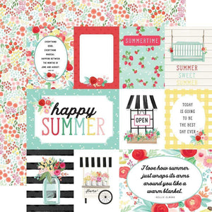 "Scrapbooking  Summer Market Double-Sided Cardstock 12""X12"" - Journaling Cards Paper 12x12"