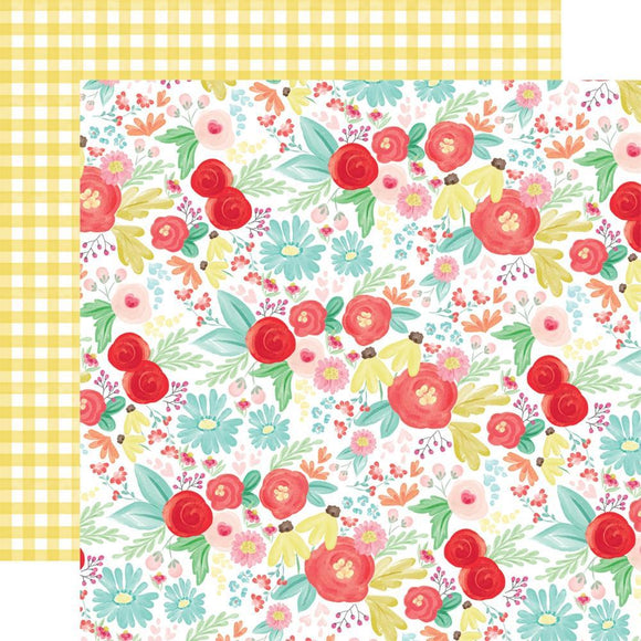 Scrapbooking  Summer Market Double-Sided Cardstock 12