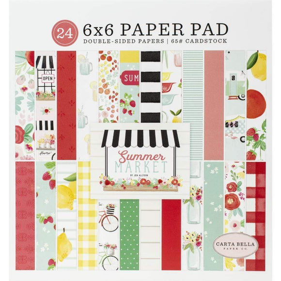 Scrapbooking  Summer Market Double-Sided Paper Pad 6