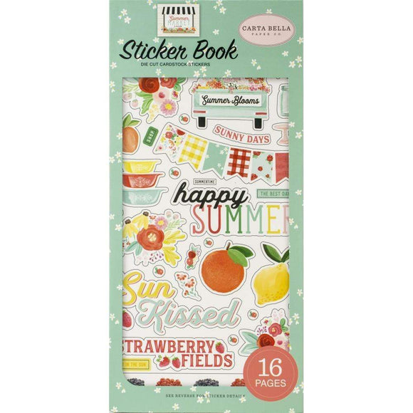 Scrapbooking  **** Arriving Shortly *** Summer Market Sticker Book Paper 12x12