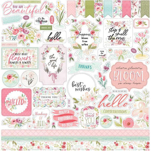 "Scrapbooking  Flora No. 3 Cardstock Stickers 12""X12"" Elements stickers"