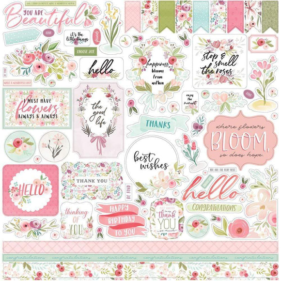 Scrapbooking  Flora No. 3 Cardstock Stickers 12