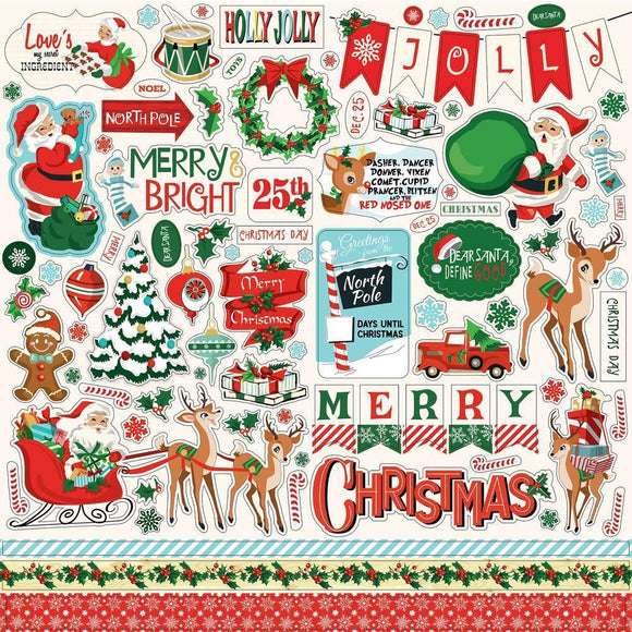 Scrapbooking  Santa's Workshop Cardstock Stickers 12