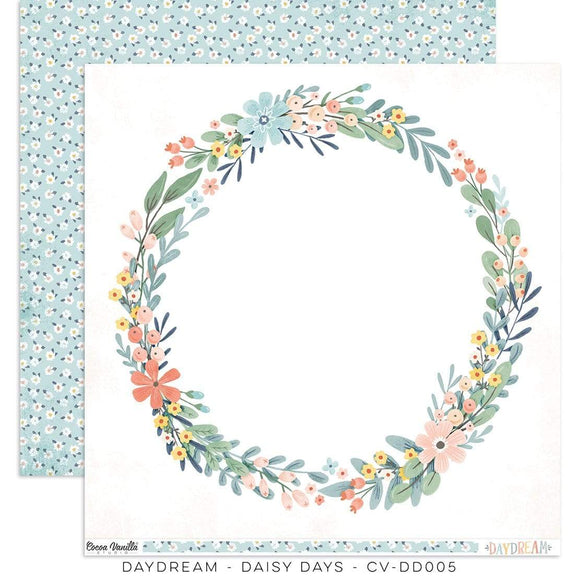 Scrapbooking  Cocoa Vanilla Daydream Double Sided 12'x12 Paper - Daisy Days Paper 12