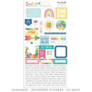 "Scrapbooking  Cocoa Vanilla Sunkissed Accessory Stickers 6""x12"" Paper 12""x12"""