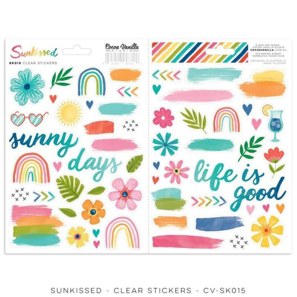 Scrapbooking  Cocoa Vanilla Sunkissed Clear Stickers Paper 12