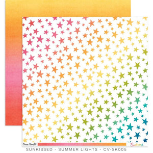 "Scrapbooking  Cocoa Vanilla Sunkissed Double Sided 12'x12"" Paper Summer Lights Paper 12""x12"""