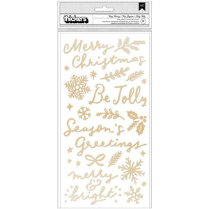 Scrapbooking  Hey Santa Thickers Stickers 111/Pkg Verry Merry Accent & Phrase/Puffy Alphas