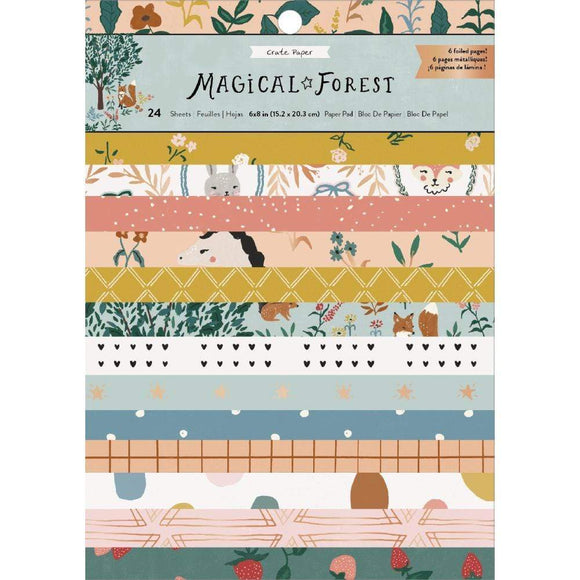 Scrapbooking  *** On Backorder **Magical Forest Single-Sided Card Making Pad 6