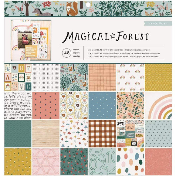 Scrapbooking  Magical Forest Single-Sided Paper Pad 12