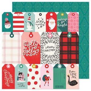 "Scrapbooking  Hey, Santa Double-Sided Cardstock 12""X12""- Be Jolly Paper 12""x12"""