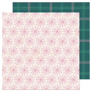 "Scrapbooking  Hey, Santa Double-Sided Cardstock 12""X12""- Peppermint Paper 12""x12"""