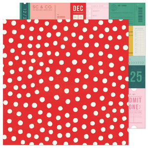 "Scrapbooking  Hey, Santa Double-Sided Cardstock 12""X12""- Very Merry Paper 12""x12"""