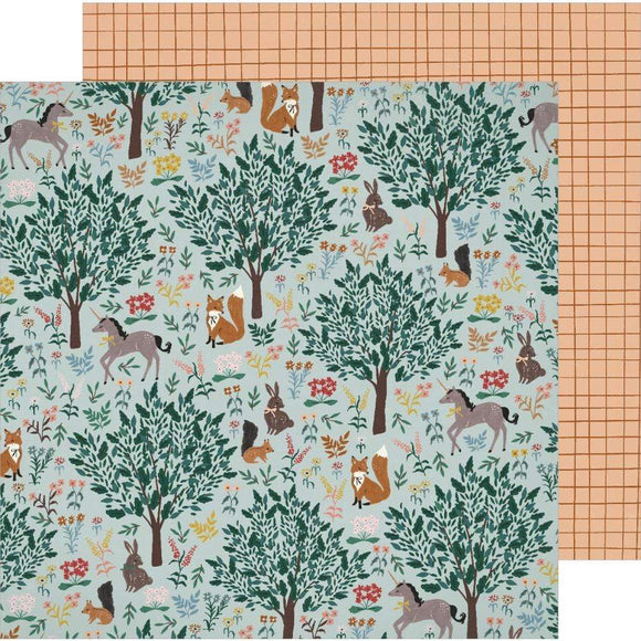 Scrapbooking  Magical Forest Double-Sided Cardstock 12