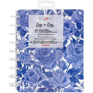 "Scrapbooking  Maggie Holmes Day-To-Day Undated 12 Month Planner 7.5""X9.5"" Sweet Rose Planner"