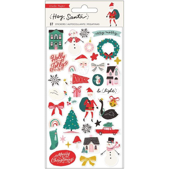 Scrapbooking  Hey, Santa Puffy Stickers 37/Pkg stickers