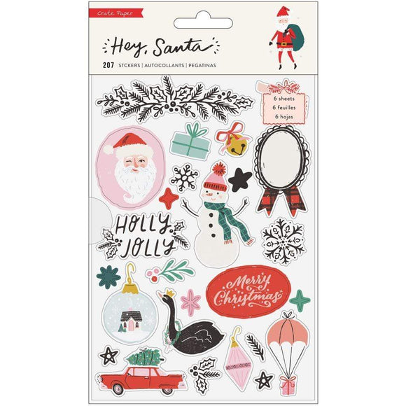 Scrapbooking  Hey, Santa Sticker Book 207/Pkg stickers