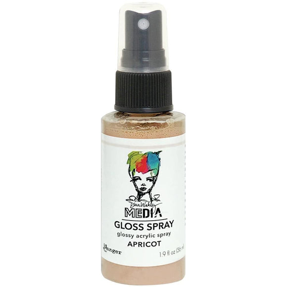 Scrapbooking  Dina Wakley Media Gloss Sprays 1.9oz - Apricot Mists and Sprays