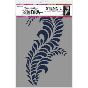 "Scrapbooking  Dina Wakley Media Stencils 9""X6"" Giant Flourish Paper Collections 12x12"
