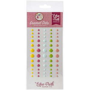 Scrapbooking  All Girl Adhesive Enamel Dots 60/Pkg Chipboards