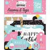 Scrapbooking  Echo Park Magical Birthday Girl Cardstock Ephemera Frames and Tags 33/Pkg Ephemera