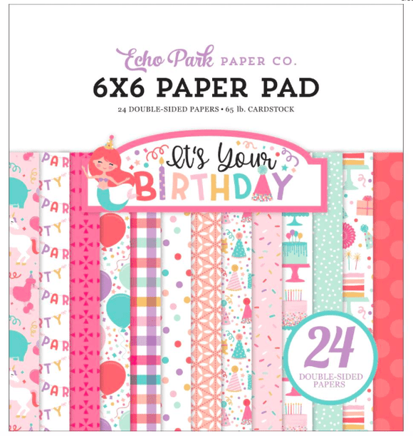 Scrapbooking  It's Your Birthday Girl, Double-Sided Paper Pad 6