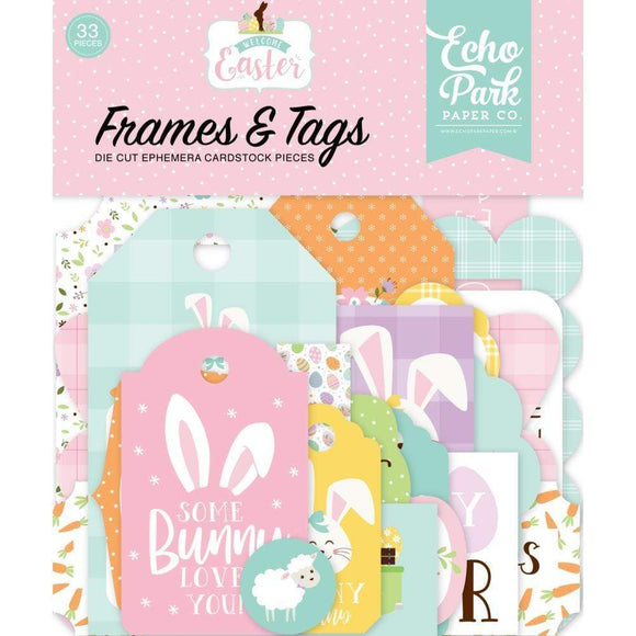 Scrapbooking  Welcome Easter Cardstock Ephemera 33/Pkg Frames & Tags ephemera